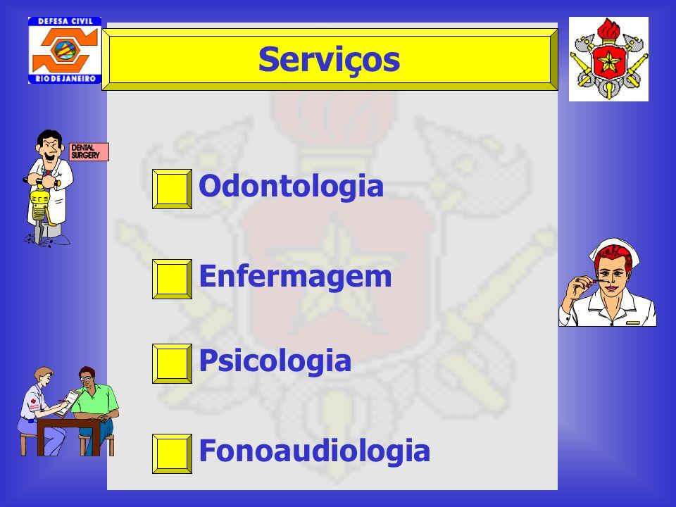 Odontologia Enfermagem Psicologia Fonoaudiologia Serviços