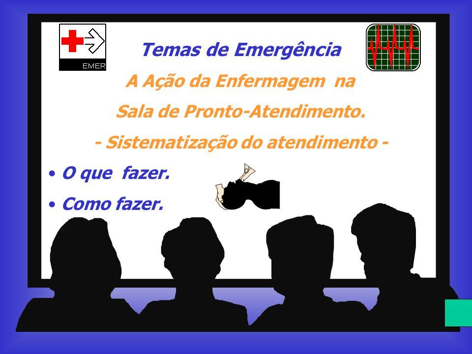 Temas de Emergência A Ação da Enfermagem na Sala de Pronto-Atendimento. - Sistematização do atendimento - O que fazer. Como fazer.
