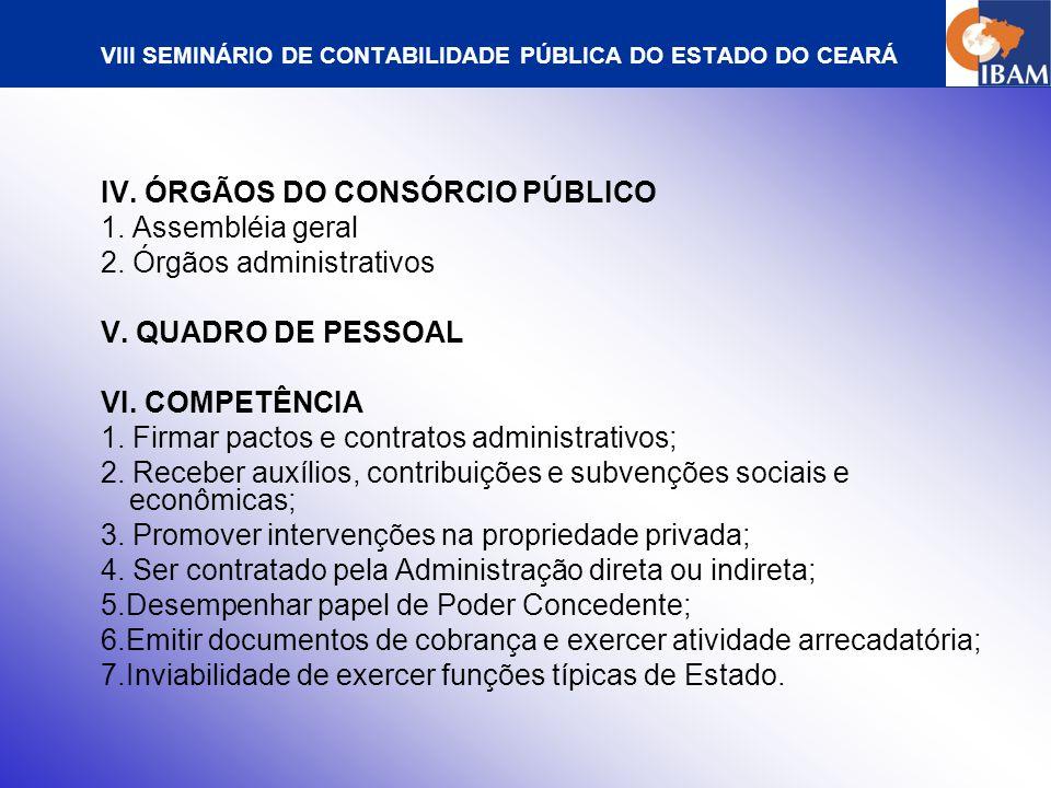 VIII SEMINÁRIO DE CONTABILIDADE PÚBLICA DO ESTADO DO CEARÁ CONTRATAÇÃO DE CONSÓRCIO PÚBLICO E CONSOLIDAÇÃO DE SEU OBJETIVO I.