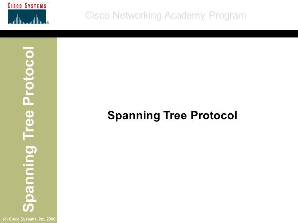 Spanning Tree Protocol Cisco Networking Academy Program (c) Cisco Systems, Inc. 2000 Curly- Porta A