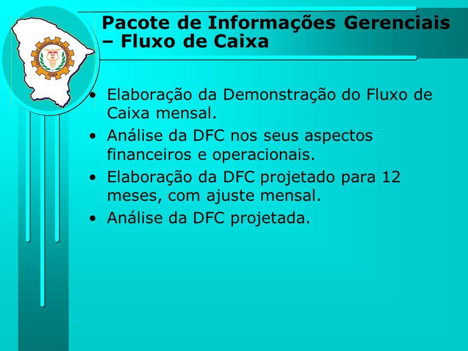 Elaboração da Demonstração do Fluxo de Caixa mensal. Análise da DFC nos seus aspectos financeiros e operacionais. Elaboração da DFC projetado para 12
