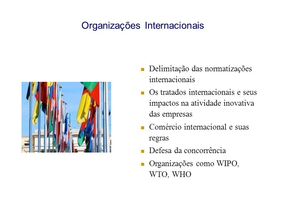 Organizações Internacionais Delimitação das normatizações internacionais Os tratados internacionais e seus impactos na atividade inovativa das empresa