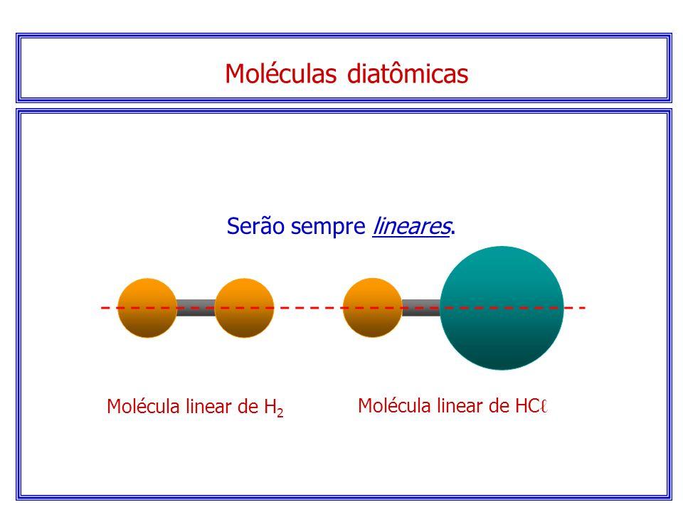 Determinando geometrias moleculares básicas... Atenção! Verificar a quantidade de átomos envolvidos no processo auxilia na indicação da posição de cad