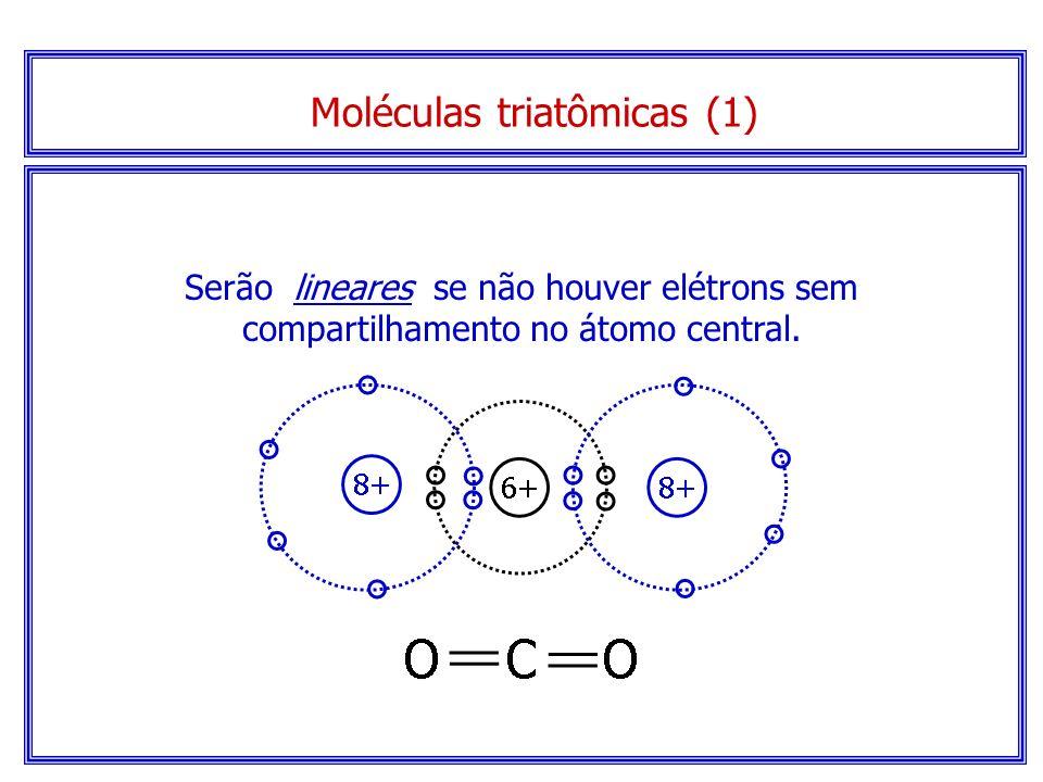 1ª etapa: construir a fórmula eletrônica da molécula. 2ª etapa: contar o número total de pares eletrônicos, compartilhados ou não, ao redor do átomo c