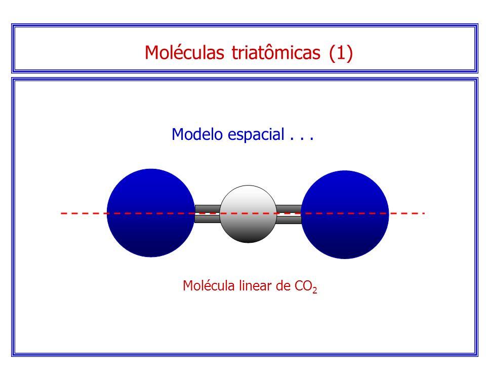 Serão lineares se não houver elétrons sem compartilhamento no átomo central. Moléculas triatômicas (1)