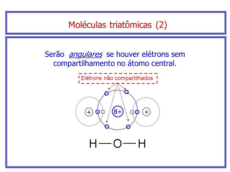 Modelo espacial... Molécula linear de CO 2 Moléculas triatômicas (1)
