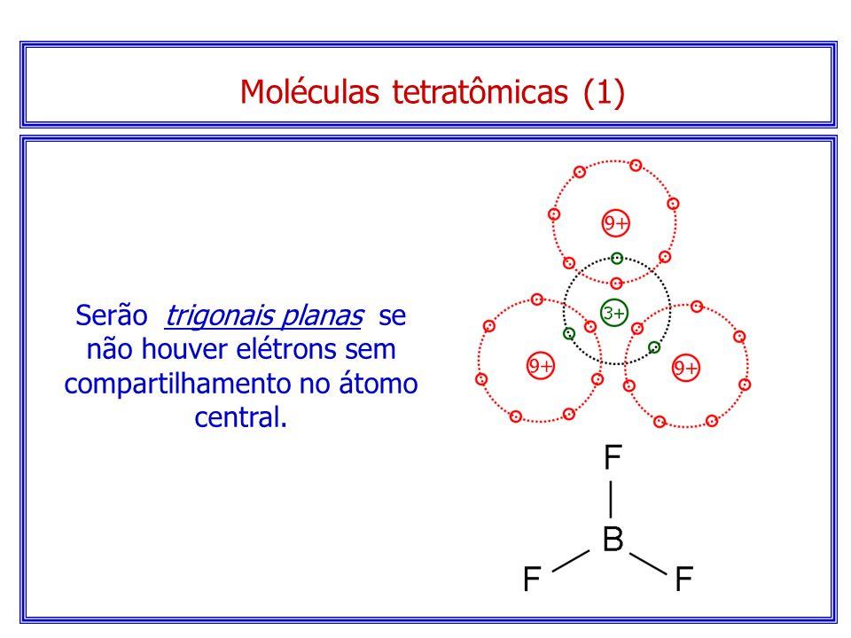 Modelo espacial... Moléculas triatômicas (2) Molécula angular de H 2 O