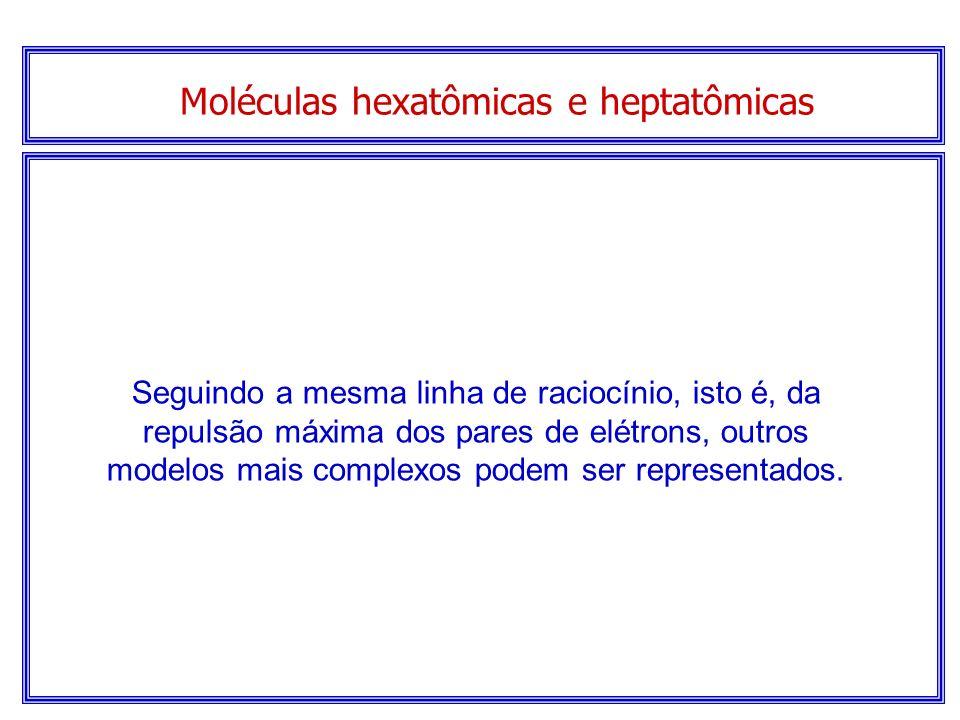 Moléculas pentatômicas Modelo espacial... Molécula tetraédrica de CH 4