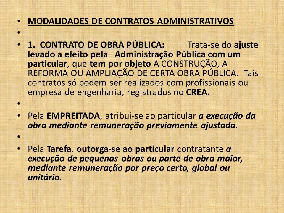 MODALIDADES DE CONTRATOS ADMINISTRATIVOS 1.