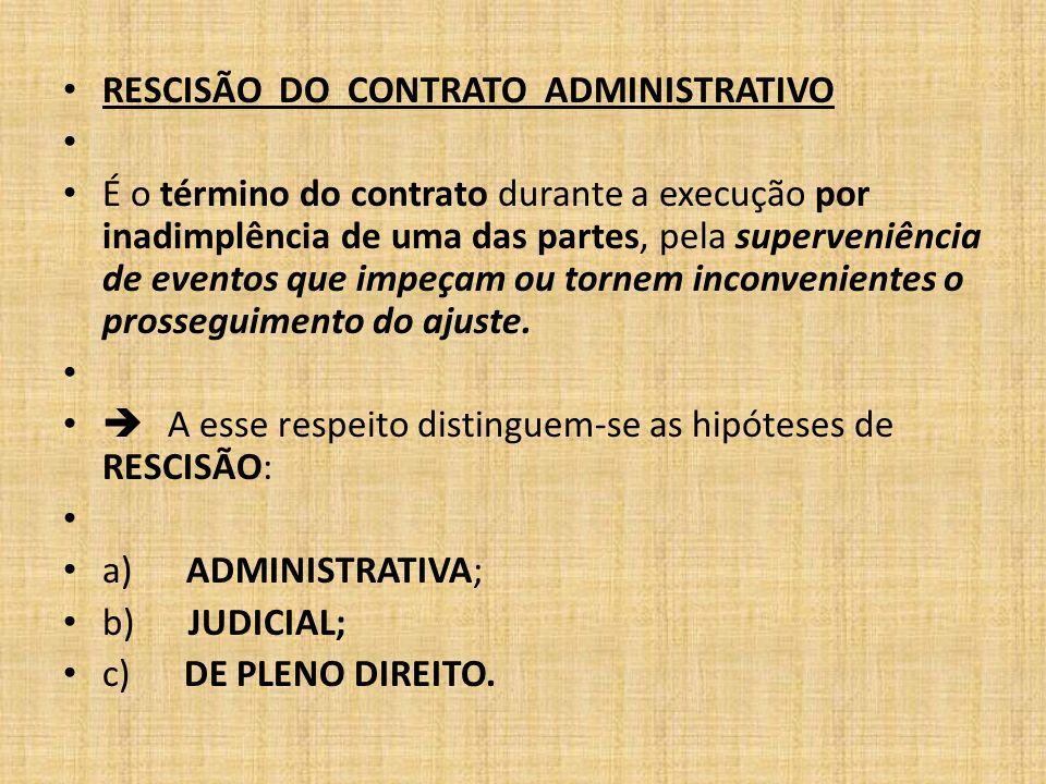 PLENO DIREITO: não depende de manifestação das partes, pois decorre de um fato extintivo já previsto, que leva à rescisão do contrato de pleno direito.
