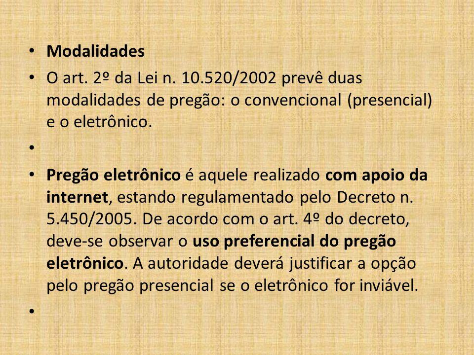 Procedimento do pregão Arts.3º e 4º da Lei n.
