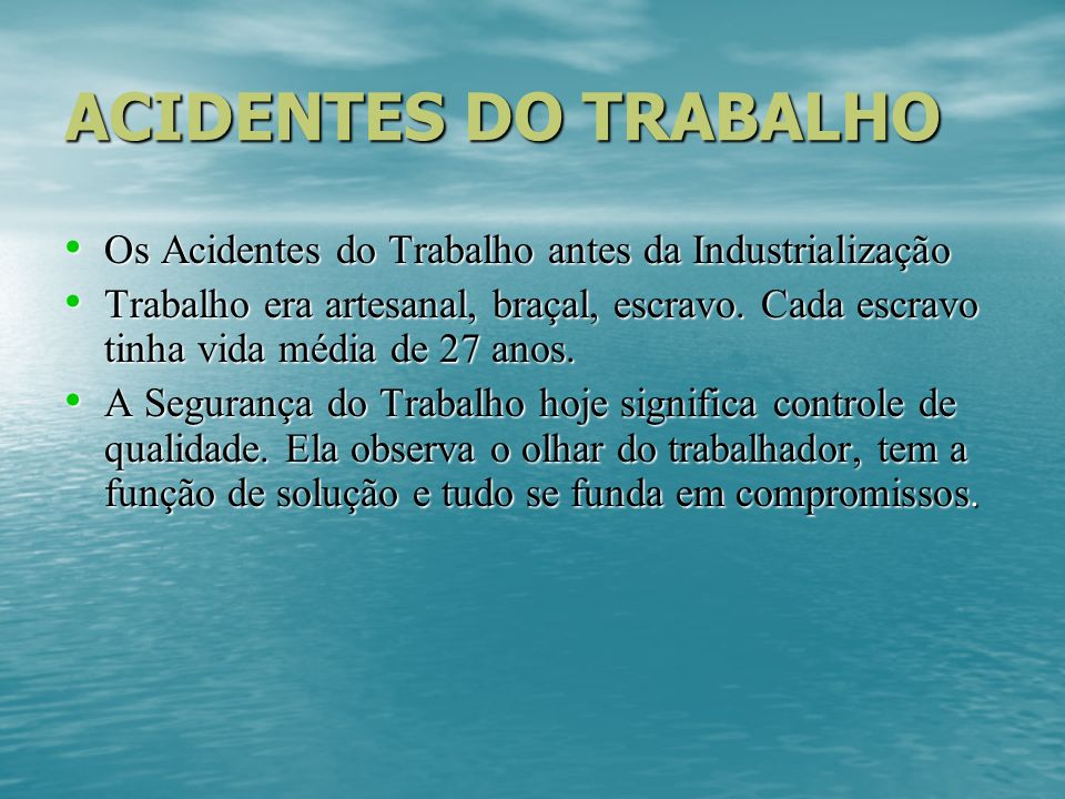 Classificação dos Riscos Ambientais Classificam em: RISCOS FÍSICOS RISCOS FÍSICOS RISCOS QUÍMICOS RISCOS QUÍMICOS RISCOS BIOLÓGICOS RISCOS BIOLÓGICOS RISCOS ERGONÔMICOS RISCOS ERGONÔMICOS RISCOS DE ACIDENTES RISCOS DE ACIDENTES