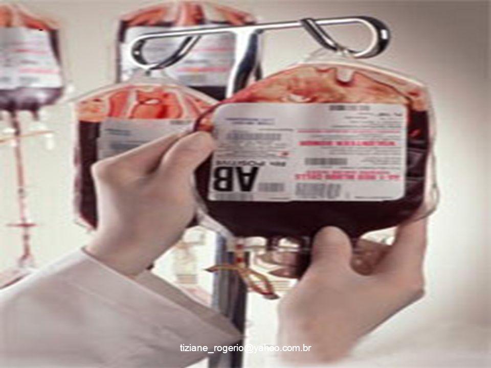 Quem pode doar sangue l Ter entre 18 e 65anos l Pesar pelo menos 50kg l Ter boa saúde l Não ter doado sangue nos últimos 60 dias(homens) e 90 dias ( mulheres) l Ter dosagem de hemoglobina 12,5g/dl á 17g/dl para mulheres e 13g/dl á 18g/dl para homens tiziane_rogerio@yahoo.com.br