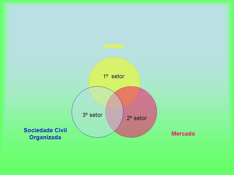 Estado Mercado Sociedade Civil Organizada 1º setor 2º setor 3º setor
