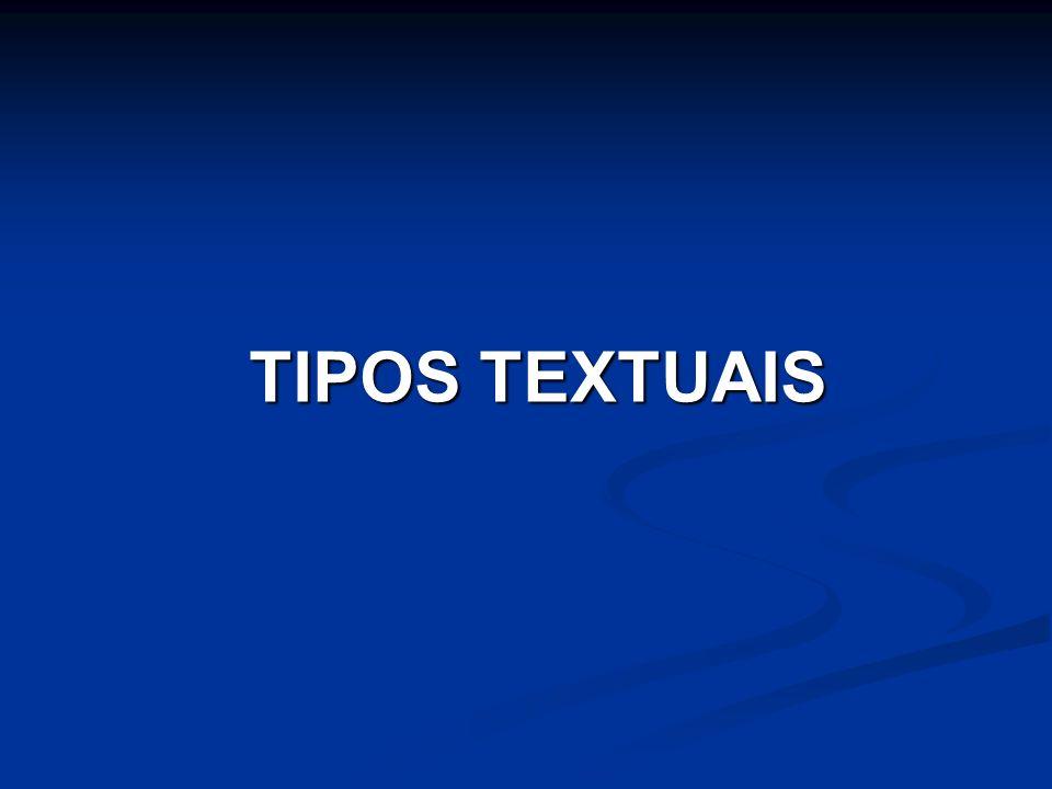 TIPOS TEXTUAIS