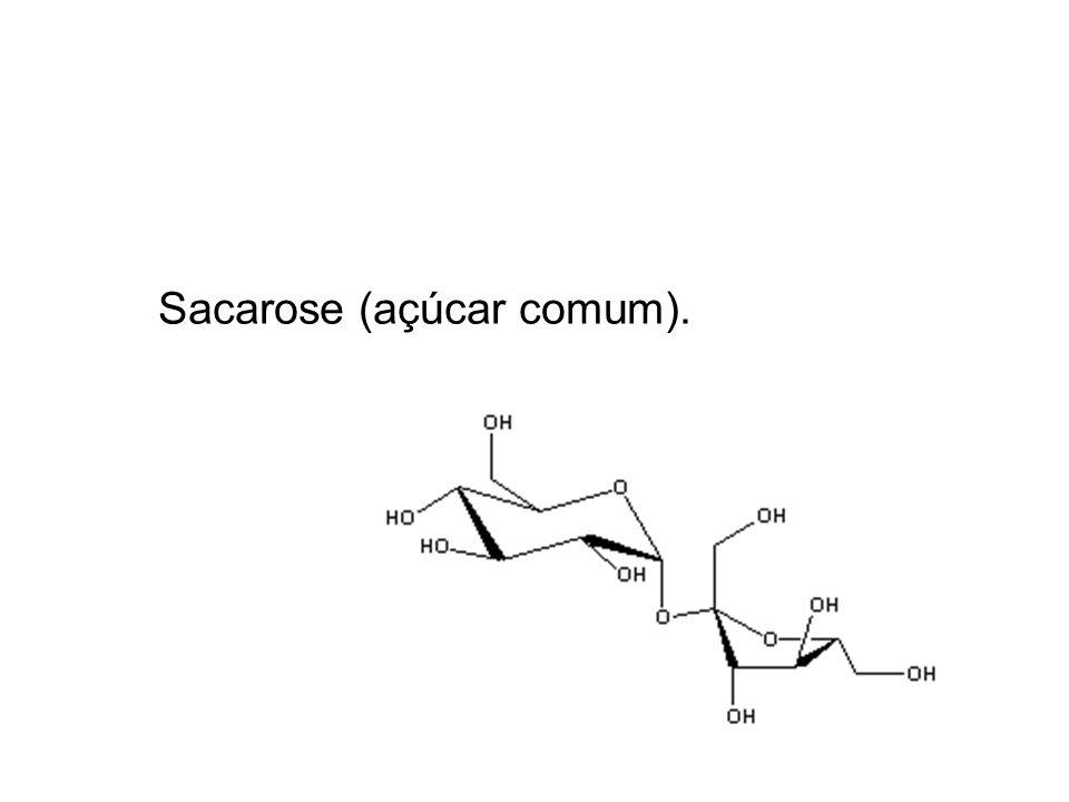 Sacarose (açúcar comum).