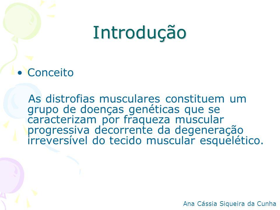 Introdução Conceito As distrofias musculares constituem um grupo de doenças genéticas que se caracterizam por fraqueza muscular progressiva decorrente