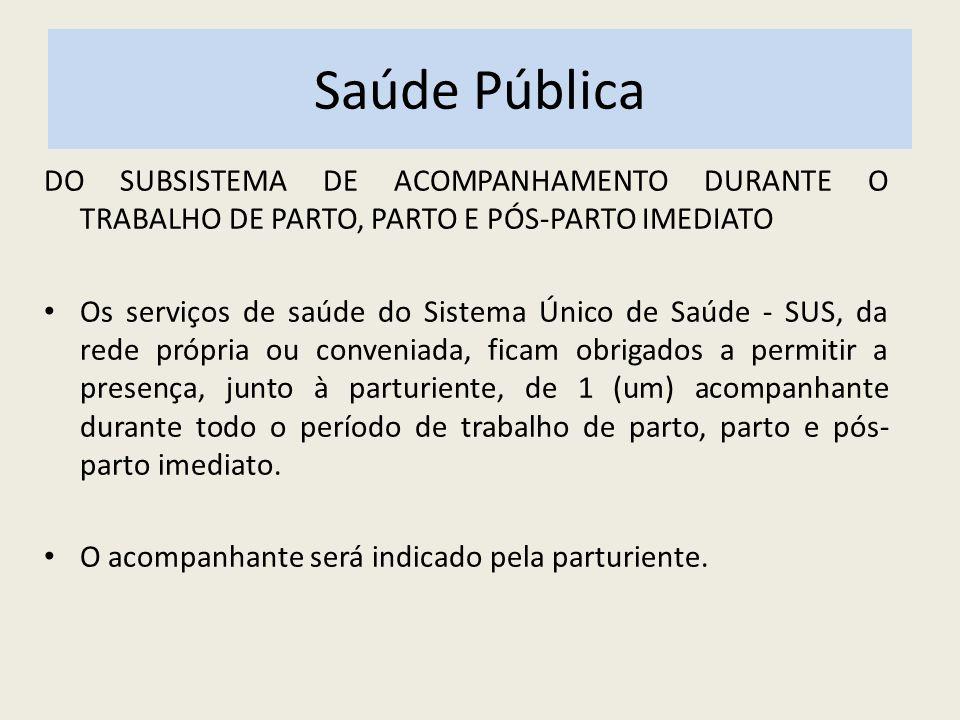 SAÚDE PÚBLICA NO BRASIL DA TRANSPARÊNCIA, VISIBILIDADE, FISCALIZAÇÃO, AVALIAÇÃO E CONTROLE Art.