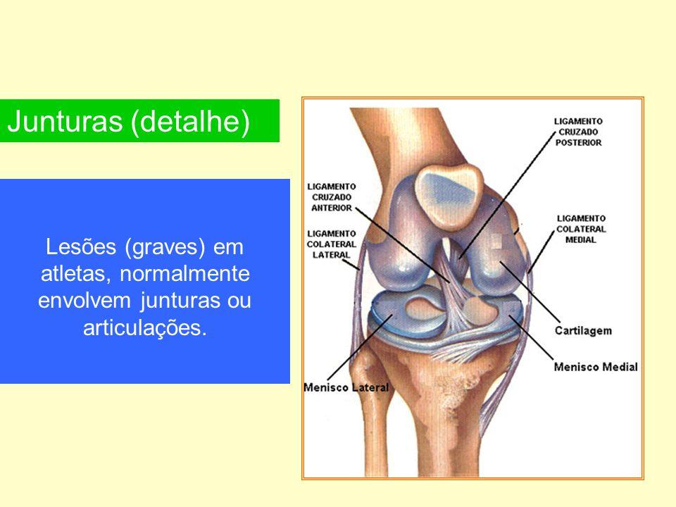 Lesões (graves) em atletas, normalmente envolvem junturas ou articulações. Junturas (detalhe)