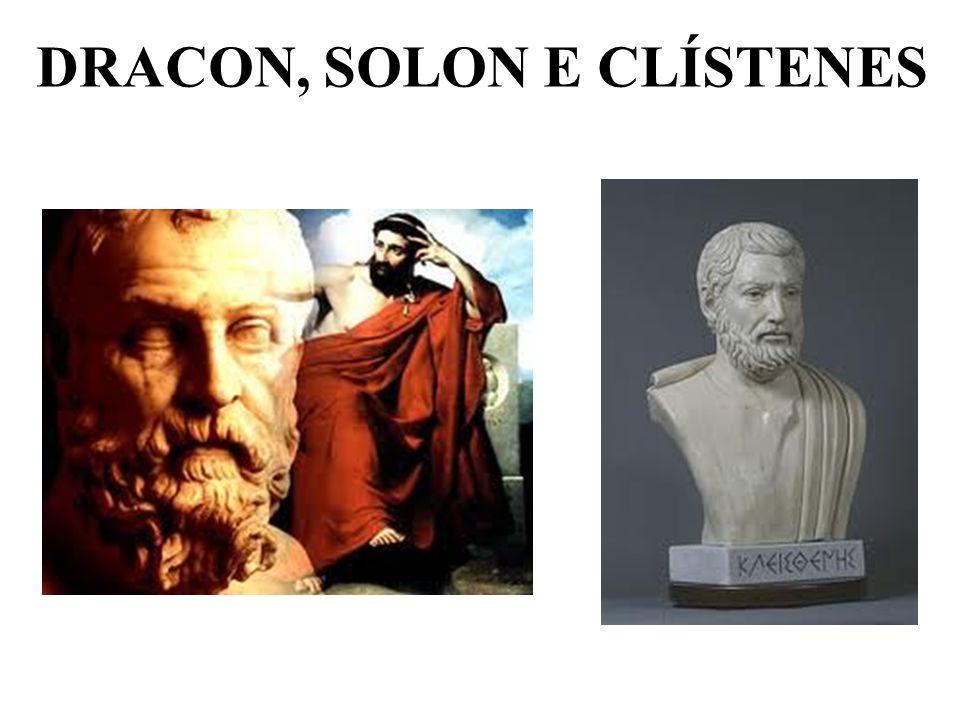 DRACON, SOLON E CLÍSTENES