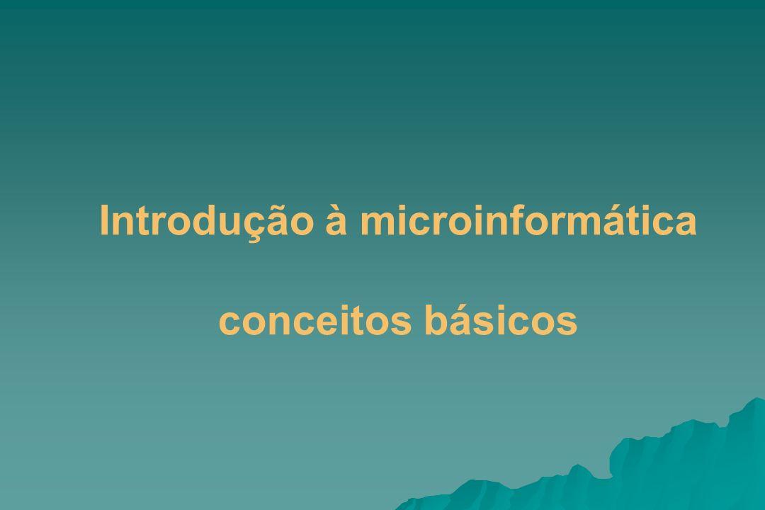Introdução à microinformática conceitos básicos