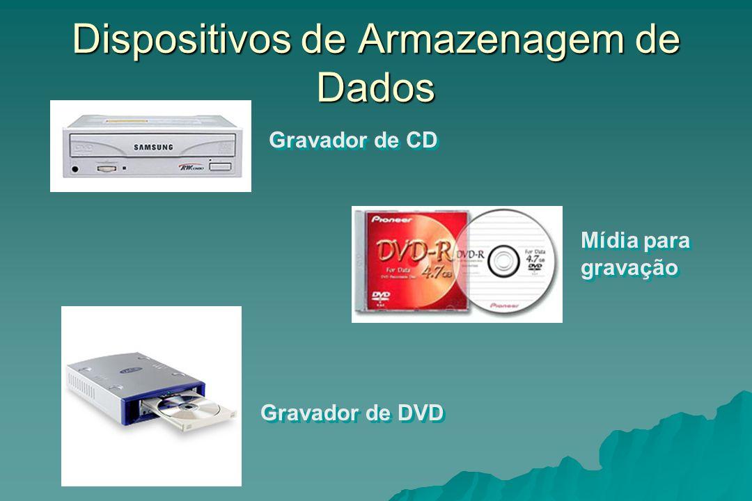 Dispositivos de Armazenagem de Dados Gravador de CD Gravador de DVD Mídia para gravação