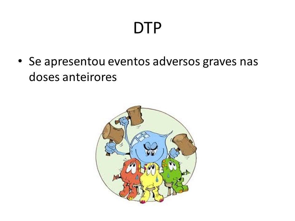 DTP Se apresentou eventos adversos graves nas doses anteirores