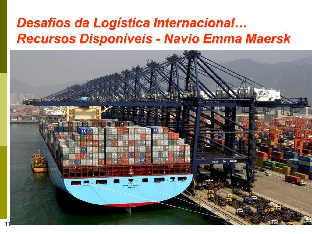 11 Desafios da Logística Internacional… Recursos Disponíveis - Navio Emma Maersk