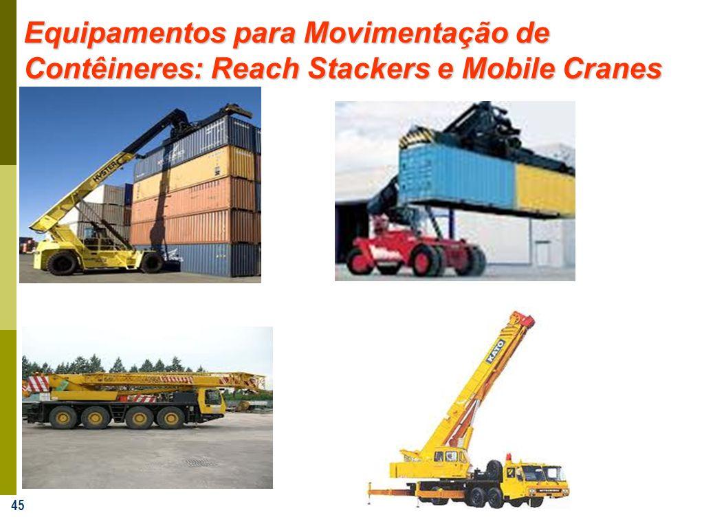 45 Equipamentos para Movimentação de Contêineres: Reach Stackers e Mobile Cranes