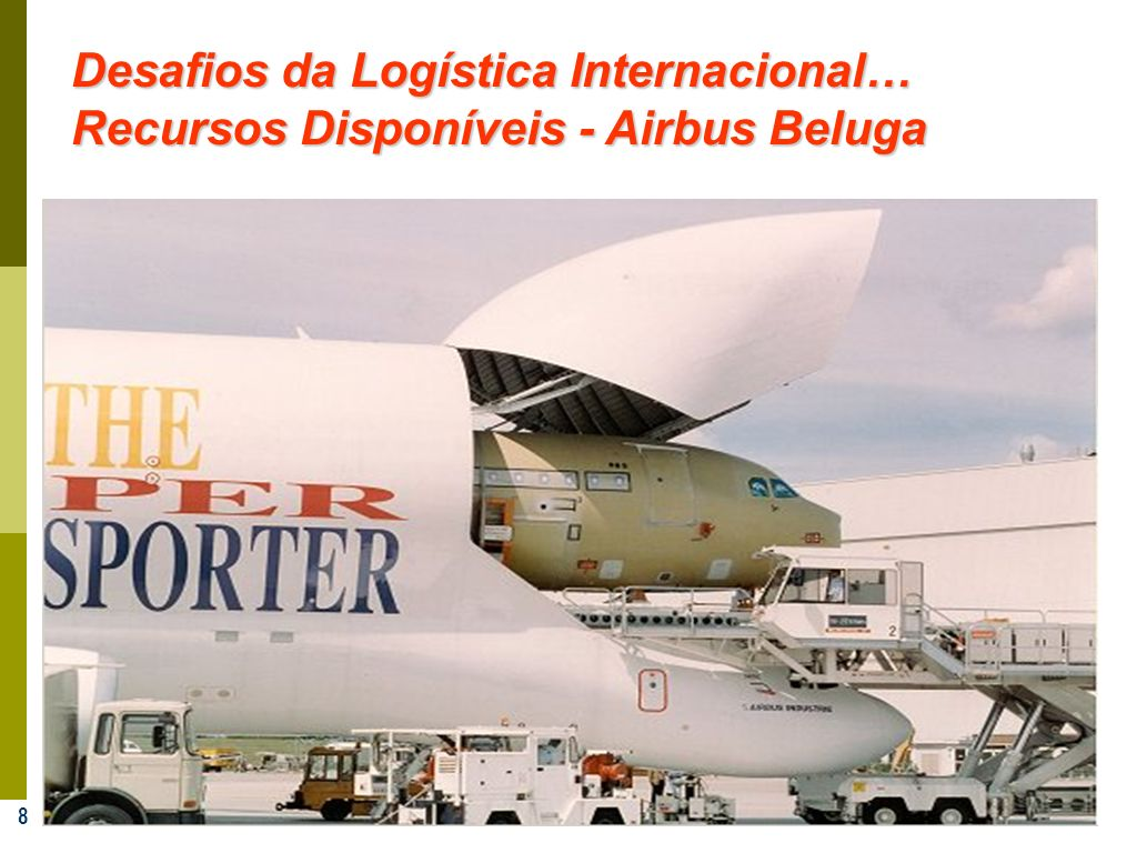 8 Desafios da Logística Internacional… Recursos Disponíveis - Airbus Beluga