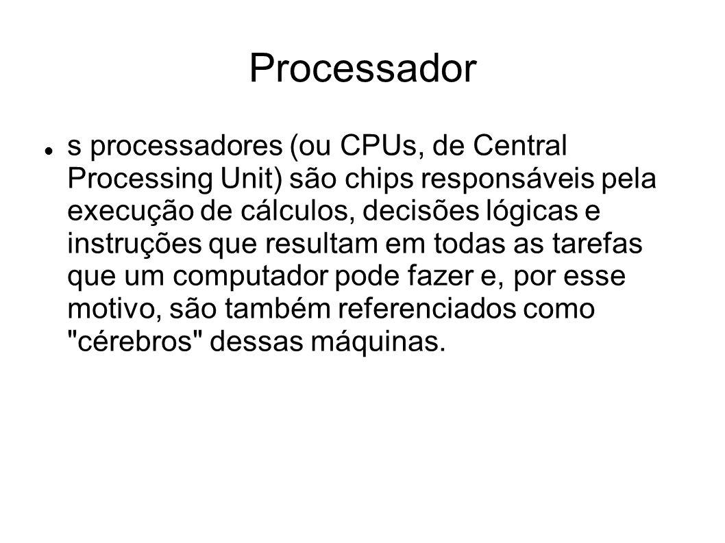 Modelos Intel Core 2 Duo e alguns dos modelos mais recentes da linha Pentium 4 utilizam o soquete 775 (LGA 775