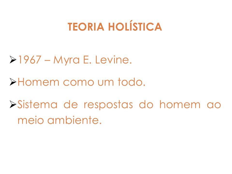 TEORIA HOLÍSTICA 1967 – Myra E. Levine. Homem como um todo. Sistema de respostas do homem ao meio ambiente.