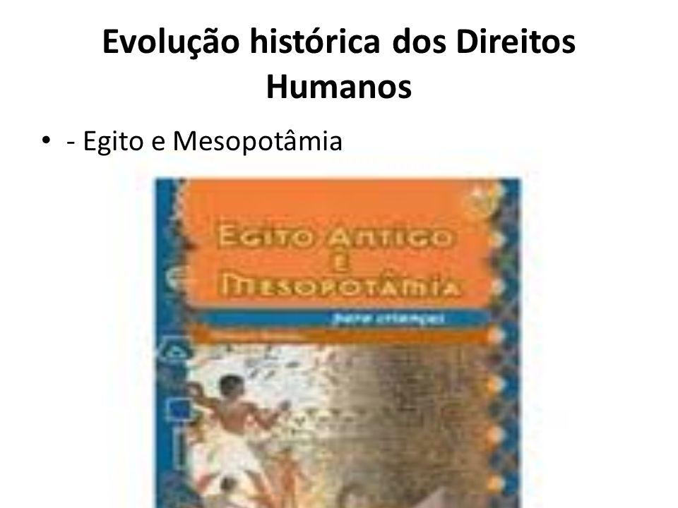Evolução histórica dos Direitos Humanos - Egito e Mesopotâmia