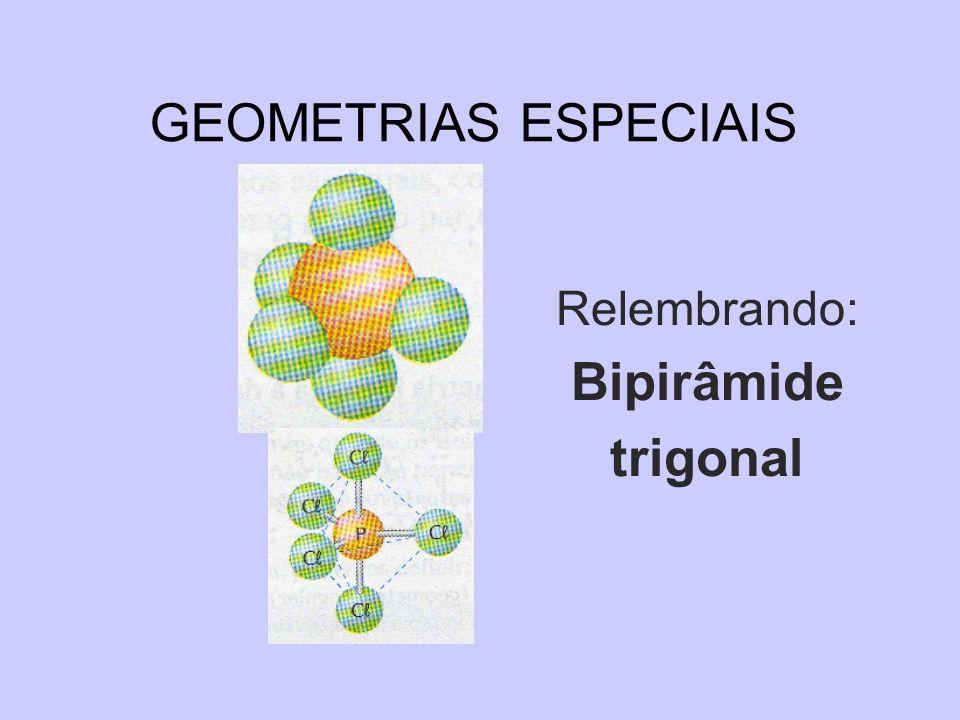 GEOMETRIAS ESPECIAIS Relembrando: Bipirâmide trigonal