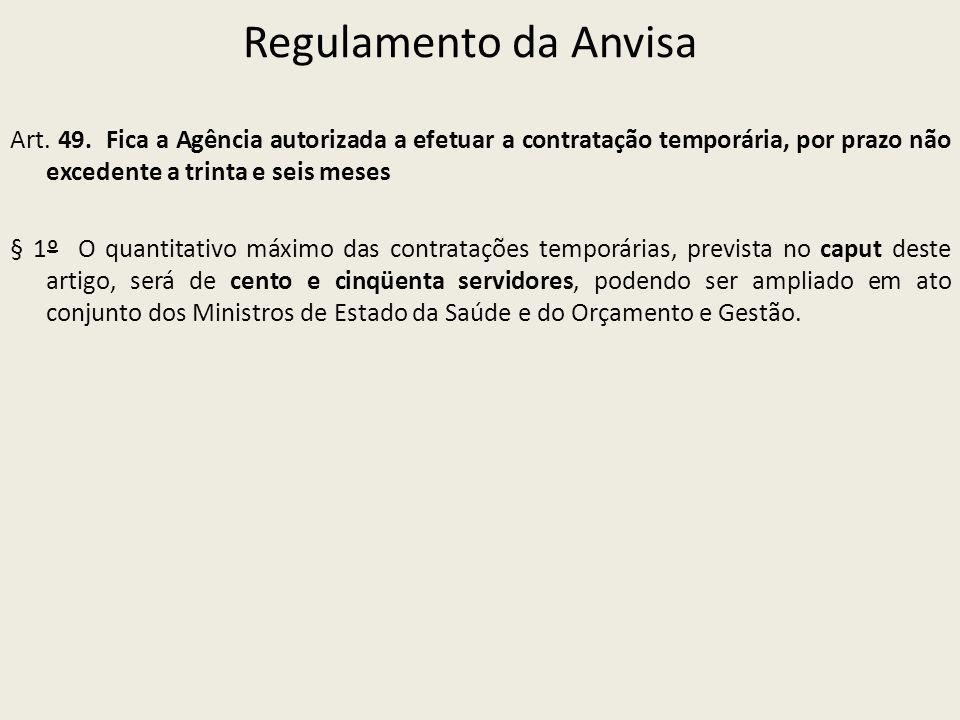 Regulamento da Anvisa Art.49.
