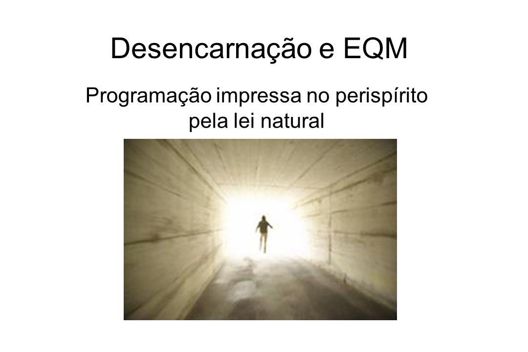 Desencarnação e EQM Programação impressa no perispírito pela lei natural