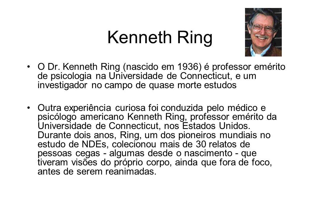 Kenneth Ring O Dr. Kenneth Ring (nascido em 1936) é professor emérito de psicologia na Universidade de Connecticut, e um investigador no campo de quas
