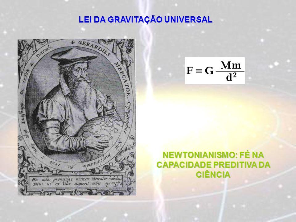 LEI DA GRAVITAÇÃO UNIVERSAL NEWTONIANISMO: FÉ NA CAPACIDADE PREDITIVA DA CIÊNCIA
