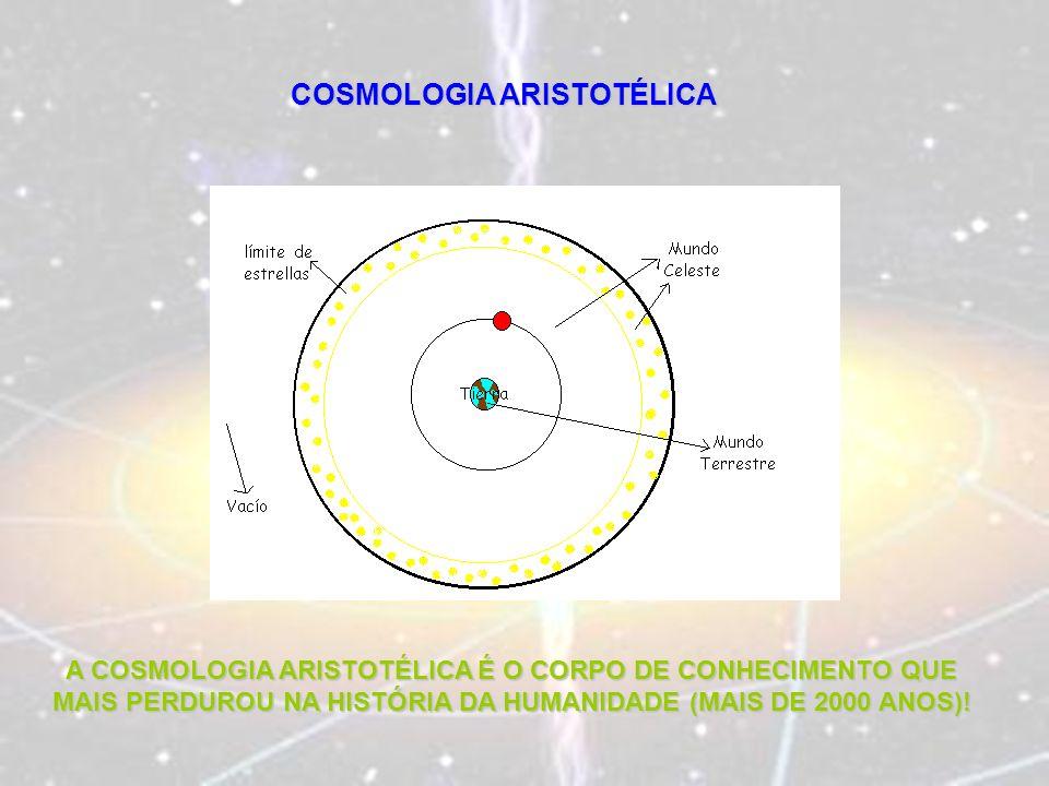 COSMOLOGIA ARISTOTÉLICA A COSMOLOGIA ARISTOTÉLICA É O CORPO DE CONHECIMENTO QUE MAIS PERDUROU NA HISTÓRIA DA HUMANIDADE (MAIS DE 2000 ANOS)!