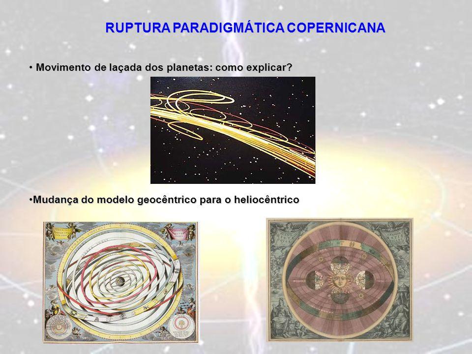 RUPTURA PARADIGMÁTICA COPERNICANA Movimento de laçada dos planetas: como explicar? Movimento de laçada dos planetas: como explicar? Mudança do modelo