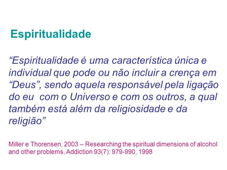 Espiritualidade Espiritualidade é uma característica única e individual que pode ou não incluir a crença em Deus, sendo aquela responsável pela ligaçã