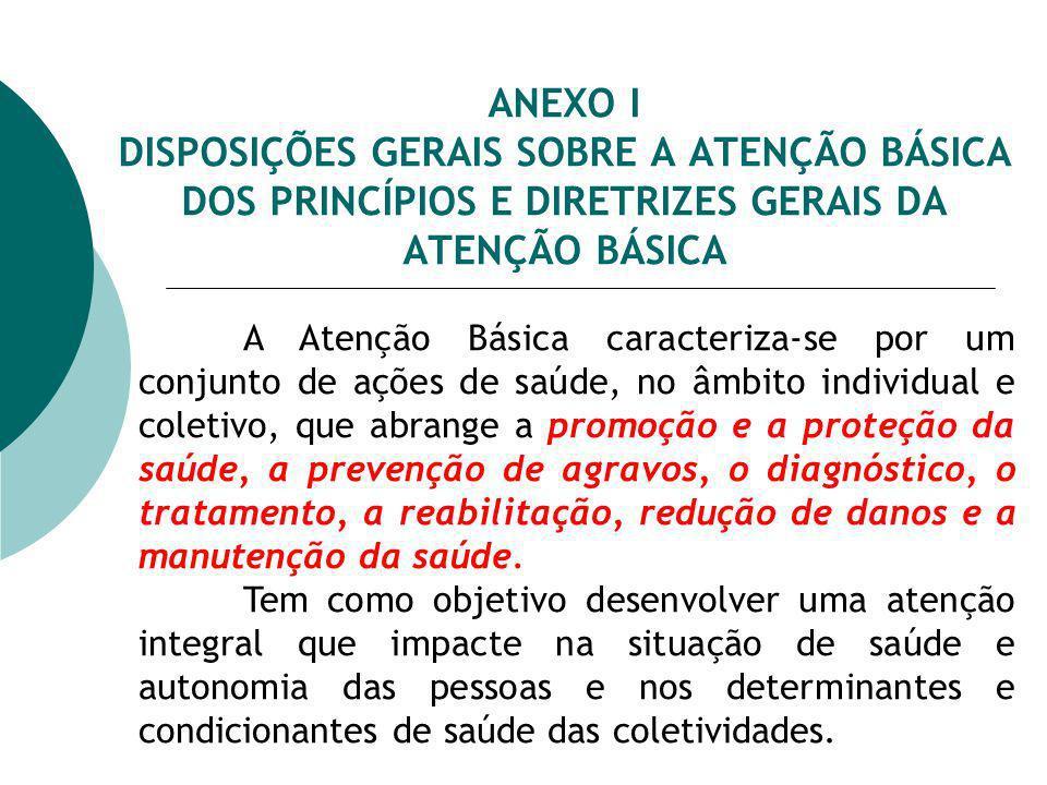 ANEXO I Quanto ao NASF, compete as Secretarias de Saúde dos Municípios e do Distrito Federal...