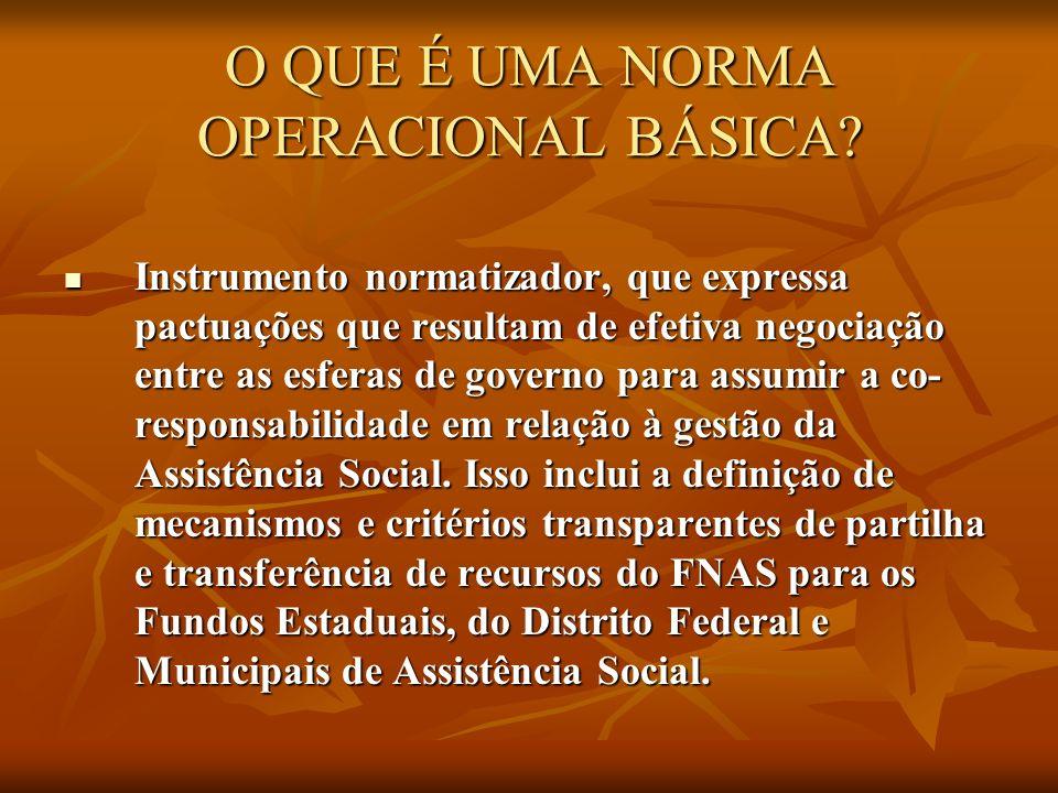O QUE É UMA NORMA OPERACIONAL BÁSICA.