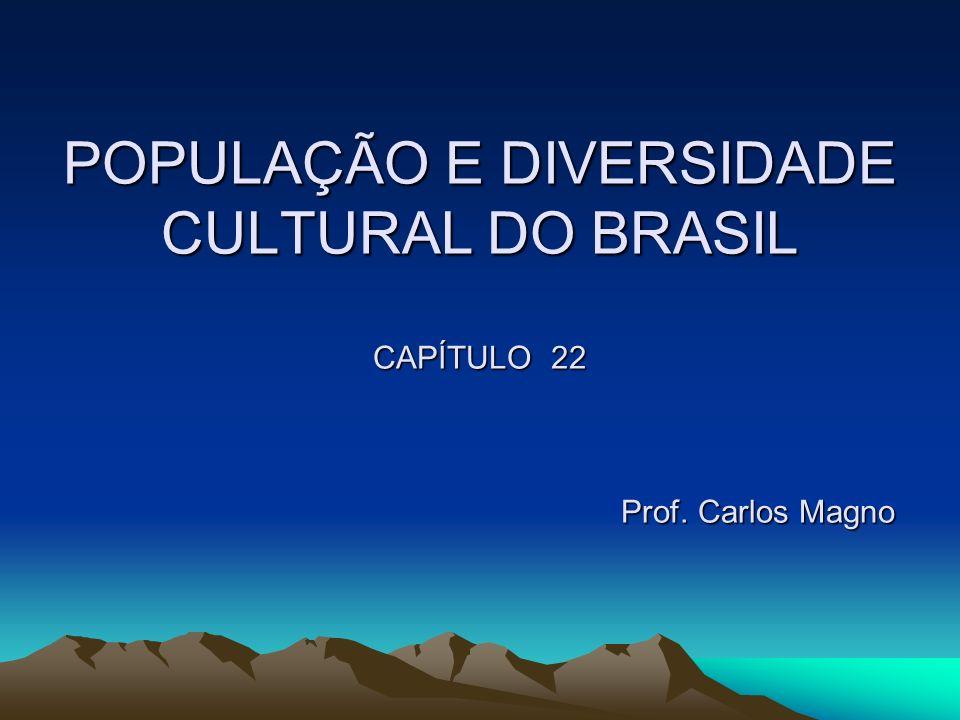 POPULAÇÃO E DIVERSIDADE CULTURAL DO BRASIL CAPÍTULO 22 Prof. Carlos Magno