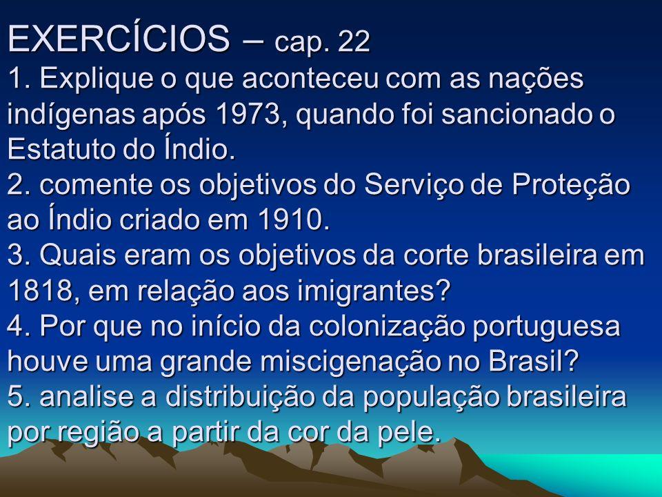 EXERCÍCIOS – cap.22 1.