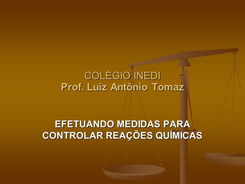 COLÉGIO INEDI Prof. Luiz Antônio Tomaz EFETUANDO MEDIDAS PARA CONTROLAR REAÇÕES QUÍMICAS