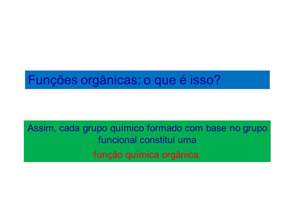 Funções orgânicas: o que é isso? Função química orgânica álcool. Grupo funcional