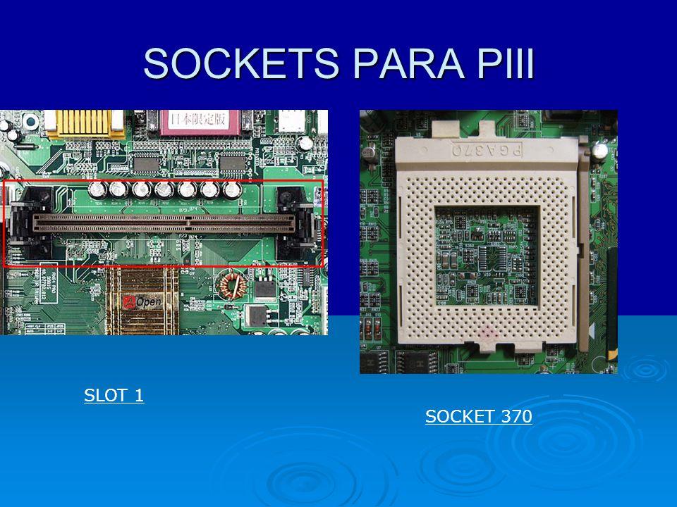 Sockets para Pentium 4 423 775 478 1366