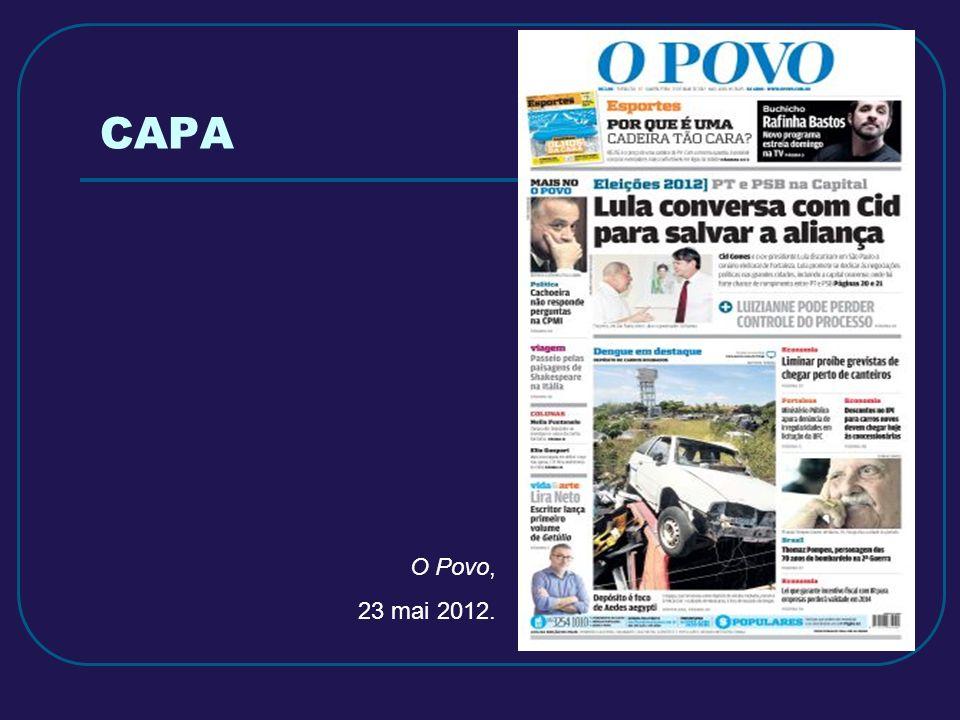 CAPA O Povo, 23 mai 2012.