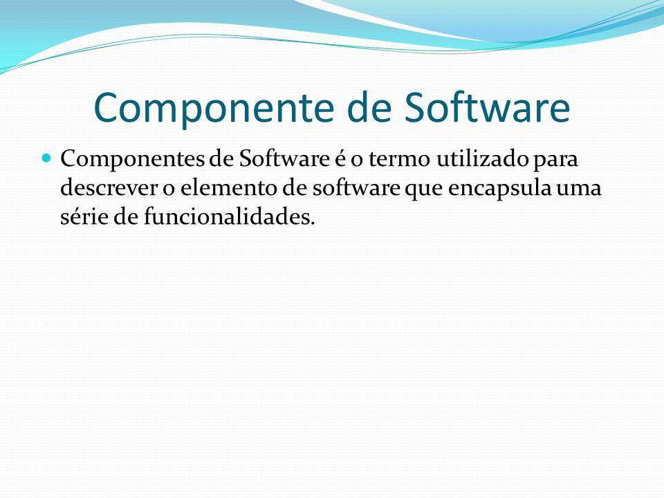 Componente de Software COM (Microsoft) ActiveX Controle ActiveX OLE DCOM XPCOM (Mozilla) UNO (OpenOffice) Enterprise JavaBeans (Sun)